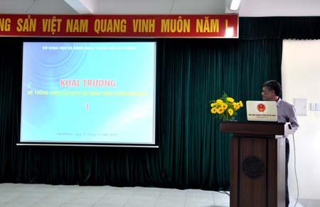 Sở KH&CN Hải Phòng: Khai trương hệ thống cung cấp dịch vụ công trực tuyến mức độ 4 đầu tiên trên địa bàn thành phố