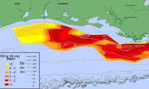Vùng chết' trên vịnh Mexico mở rộng kỷ lục