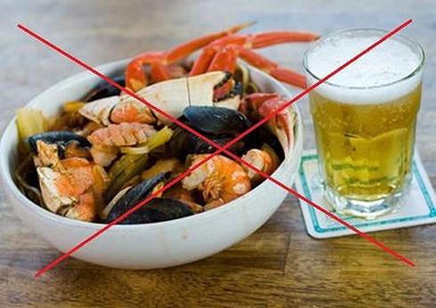 Sai lầm khi ăn hải sản