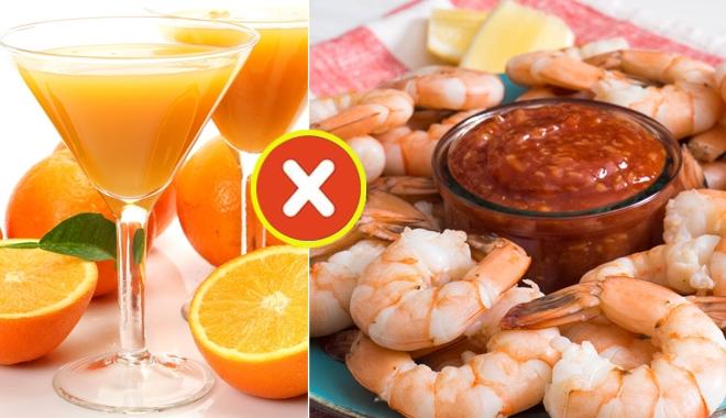 Những sai lầm khi ăn tôm