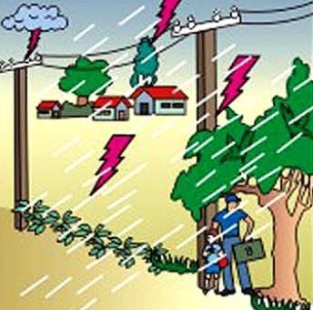 Phòng ngừa điện giật khi mưa bão